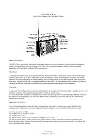 Instrukcja obsługi BarlowWadley XCR 30