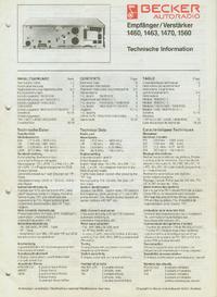Serviceanleitung Becker 1470