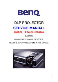 Руководство по техническому обслуживанию BenQ PB6200