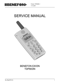Manual de servicio Benefon Exion TDP80DN