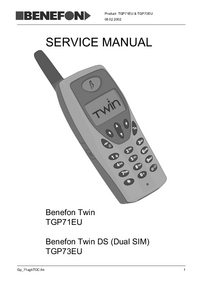 Service Manual Benefon Twin TGP71EU