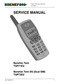 Service Manual Benefon Benefon Twin DS TGP73EU