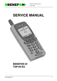 Manual de servicio Benefon BENEFON iO TGP-65-EU