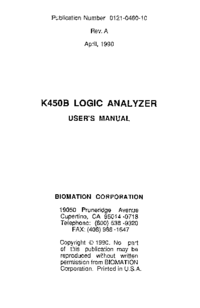 Manuale d'uso Biomation K450B