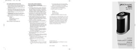 Manual do Usuário Bionaire BAP1412