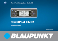 User Manual Blaupunkt TravelPilot E1
