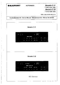 Manual de serviço Blaupunkt Bavaria C 21