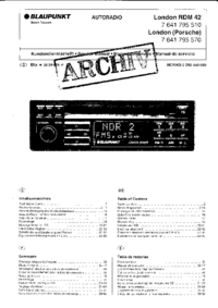 Service Manual Blaupunkt London (Porsche)