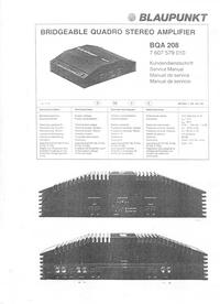 Manual de serviço Blaupunkt BQA 208