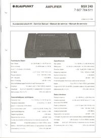 Руководство по техническому обслуживанию Blaupunkt BSX 240