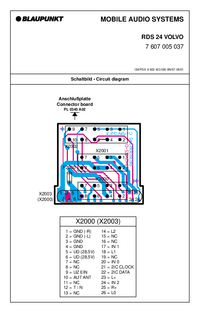 Schéma cirquit Blaupunkt RDS 24 VOLVO
