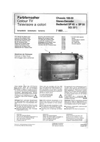manuel de réparation Blaupunkt Columbia SQ 25 VT Stereo Color