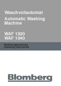 Manual del usuario Bloomberg WAF 1320