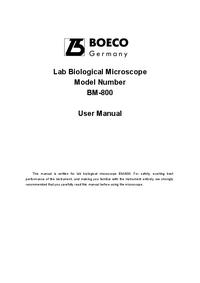 Manuel de l'utilisateur Boeco BM-800