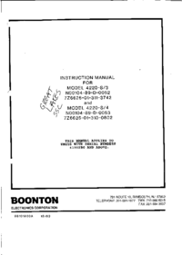 Serwis i User Manual Boonton 4220-S/3