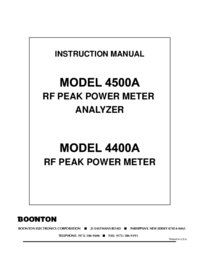 User Manual Boonton 4500A