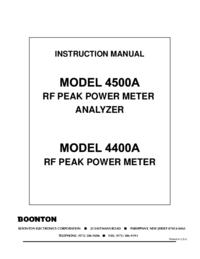 Manual do Usuário Boonton 4500A