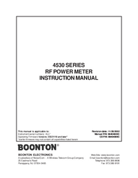 Manual del usuario Boonton 4530 Series