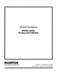 Serviço e Manual do Usuário Boonton 9200A
