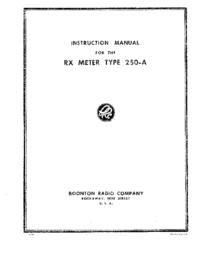 Service et Manuel de l'utilisateur Boonton 250-A