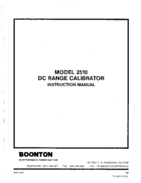 Service and User Manual Boonton 2510