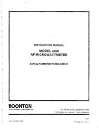 Serviço e Manual do Usuário Boonton 4200