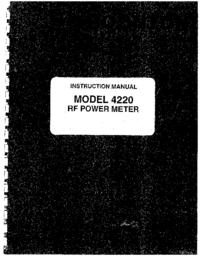 Service-en gebruikershandleiding Boonton 4220