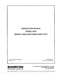 User Manual Boonton 4500