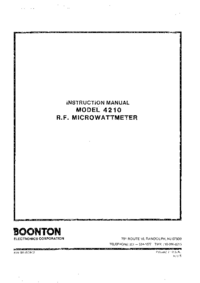 Servicio y Manual del usuario Boonton 4210