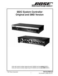 Instrukcja serwisowa Bose 802C