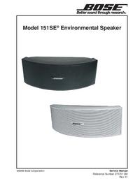 Manual de servicio Bose 151SE
