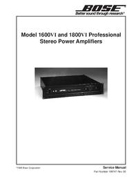 Manual de servicio Bose 1600VI