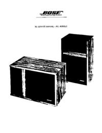 Service Manual Bose 301