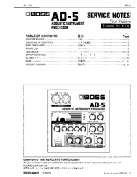 Service Manual Boss AD-5