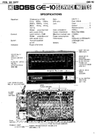 Manual de servicio Boss GE-10