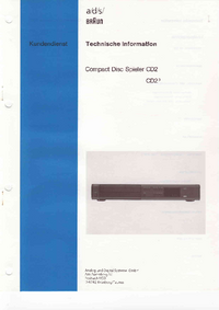 Instrukcja serwisowa Braun CD2
