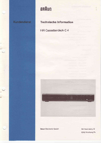 Service Manual Braun C4