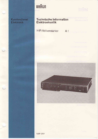 Service Manual Braun A1