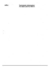 Manual de servicio Braun TG 1000/4