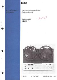 Service Manual Braun TG 1000