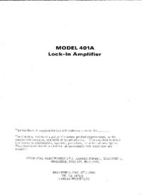 Servizio e manuale utente Brookdeal 401A
