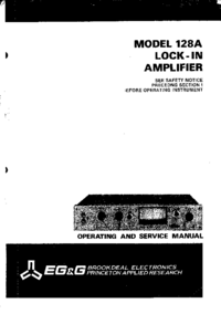 Service and User Manual Brookdeal 128A