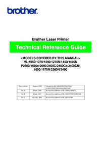 Service Manual Brother P3400CN