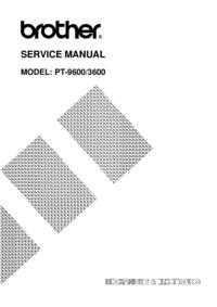 Руководство по техническому обслуживанию Brother PT-9600