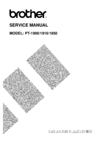 Manual de servicio Brother PT-1900