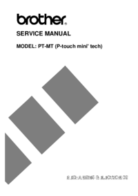 Service Manual Brother PT-MT (P-touch mini' tech)