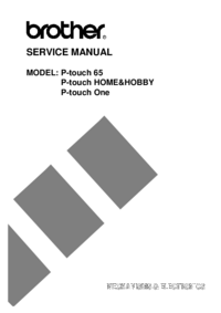 Service Manual Brother P-touch HOME&HOBBY