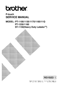 Service Manual Brother PT-1160