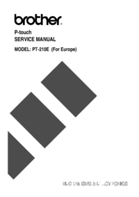 Manual de servicio Brother PT-210E (For Europe)