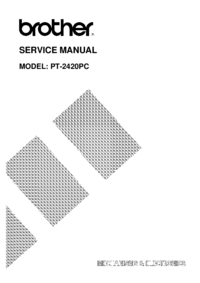 Manual de servicio Brother PT-2420PC